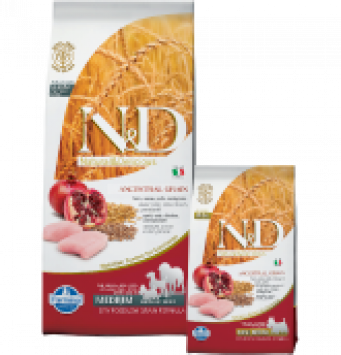 Farmina N&D Low Grain Chicken & Pomegranate Adult Mini Con Pollo e Melograno per Cani di Taglia Piccola 800gr
