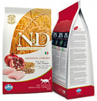 Farmina N&D Chicken & Pomegranate Adult Cat Alimento per Gatti Adulti  low grain con Pollo e Melograno 300gr